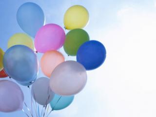 обои Запуск воздушных шариков фото