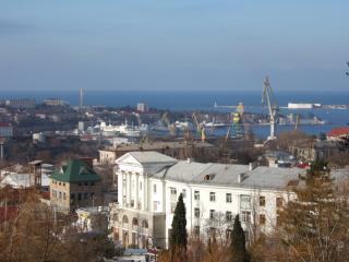 обои Промышленный город подъемные краны фото