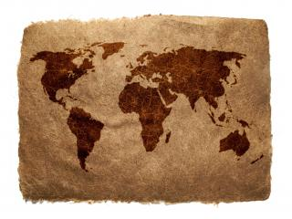 обои Карта на клочке бумаги фото