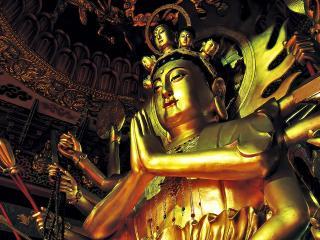 обои Многорукая китайская статуя фото