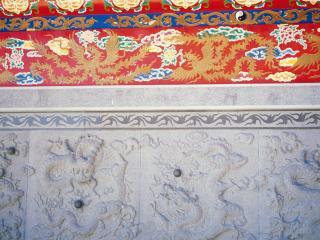обои Расписная китайская стена фото