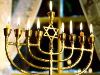 обои Подсвечник с еврейской звездой фото