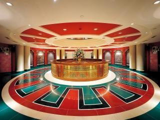 обои Оригинальный дизайн холла отеля фото