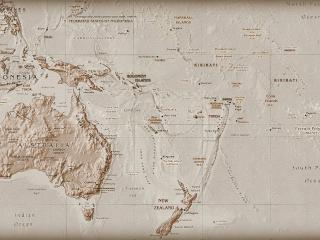 обои Oceania map фото