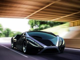 обои Черный спортивный автомобиль фото