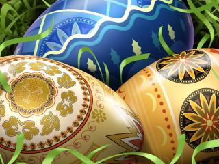 обои Painted Easter eggs фото