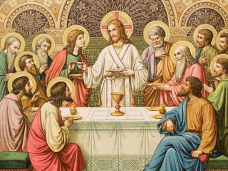 обои The last supper of Christ фото