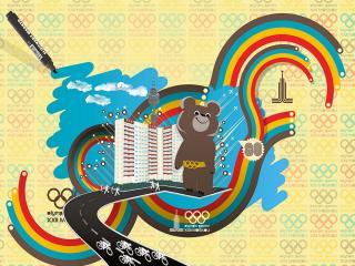 обои Olympic Bear олимпиада 80 фото