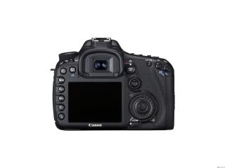 обои Фотоаппарат Canon на белом фоне вид сзади фото