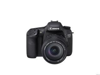 обои Фотоаппарат Canon с зуммом на белом фоне фото