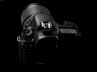 обои Профессиональный фотоаппарат Canon - вид сверху фото