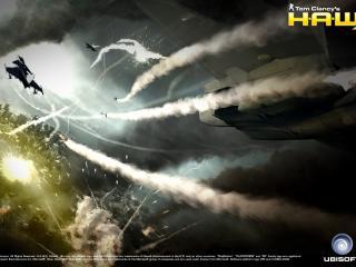 обои Ракетный удар истребителем фото