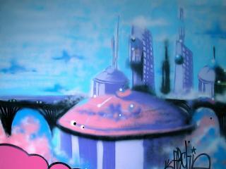 обои Граффити город фото
