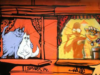 обои Граффити коты фото