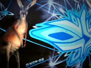 обои Граффити кенгуру фото