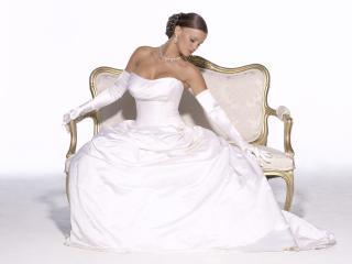 обои Девушка в белом платье фото