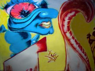 обои Граффити червяк фото