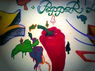 обои Граффити красный перчик фото