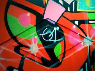 обои Граффити разноцветное фото
