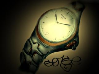 обои Граффити стильные часы фото