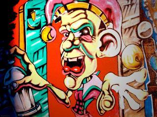 обои Граффити клоун фото