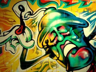 обои Граффити баллончик фото