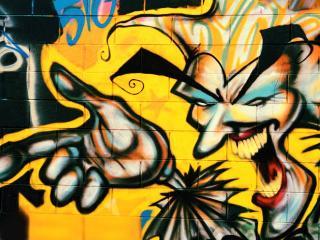 обои Граффити злорадостный человек фото