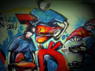обои Граффити три парня фото