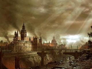 обои Разрушенный Лондон фото