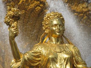 обои Золотая девушка фото
