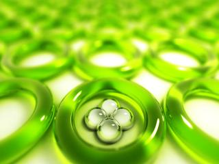 обои Зеленые кольца фото
