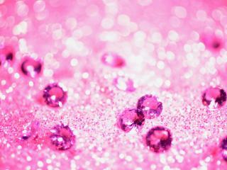 обои Сиреневые кристаллы фото