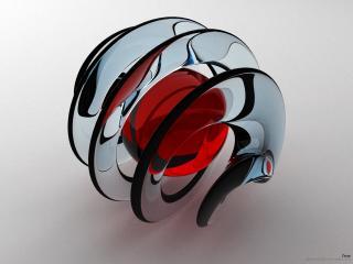 обои Спираль с красным шаром фото
