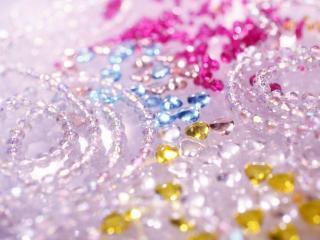 обои Цветные кристаллы фото