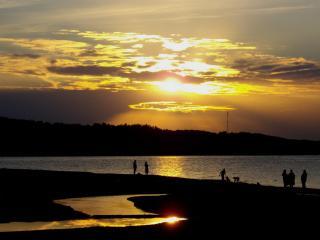 обои Закат у моря фото