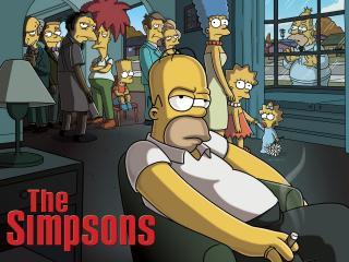 обои The Simpsons - все злятся на Гомера фото