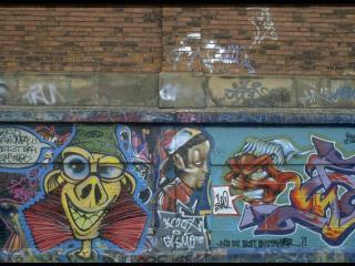 обои Графити на стене фото