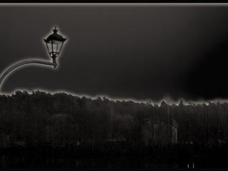 обои Чёрный фонарь фото