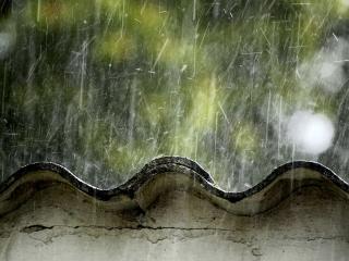 обои Дождик по крыше фото
