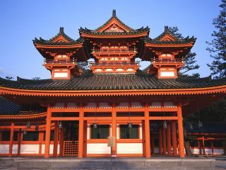 обои Heian Jingu Shrine, Nishi Tennocho, Okazaki, Sakyo-ku, Kyoto, Japan фото
