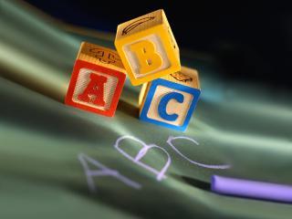обои Кубики ABC фото