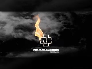 обои Горящее лого Rammstein фото