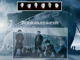 обои Rammstein на фоне Rosenrot фото