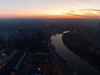обои Панорама на Москву-реку фото
