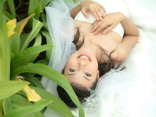 обои Азиатская девушка в свадебном платье фото