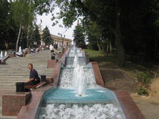обои Городской фонтан фото