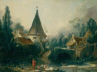 обои Boucher, Francois - Landscape Near Beauvais фото