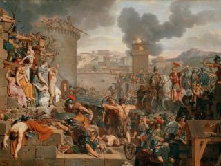 обои Caraffe, Armand-Charles - Metellus Raising the Siege фото