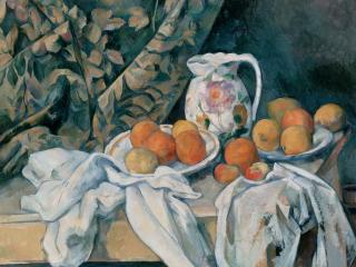 обои Cezanne, Paul - Still Life with a Curtain фото