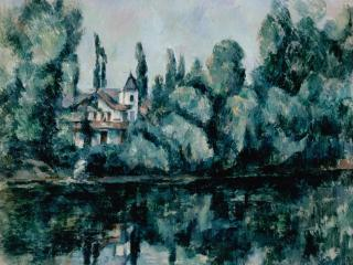 обои Cezanne, Paul - The Banks of the Marne фото